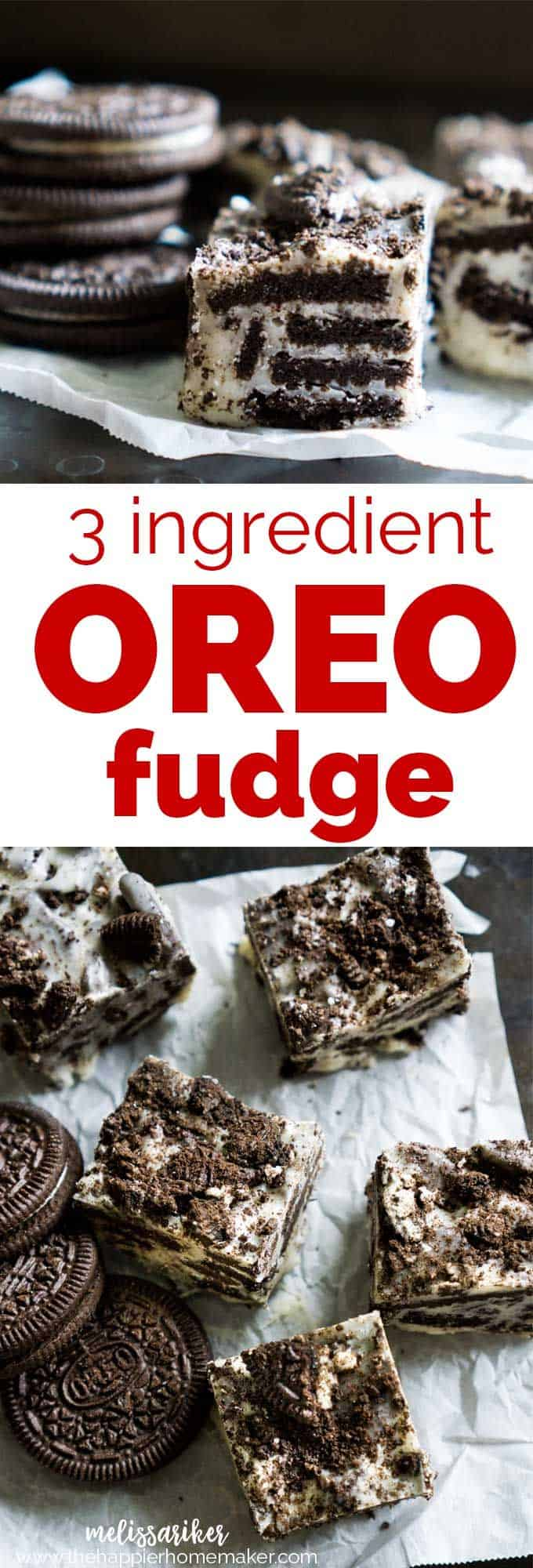3-ingredient Oreo fudge