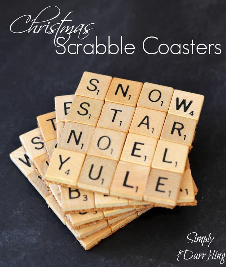 Christmas Scrabble coasters