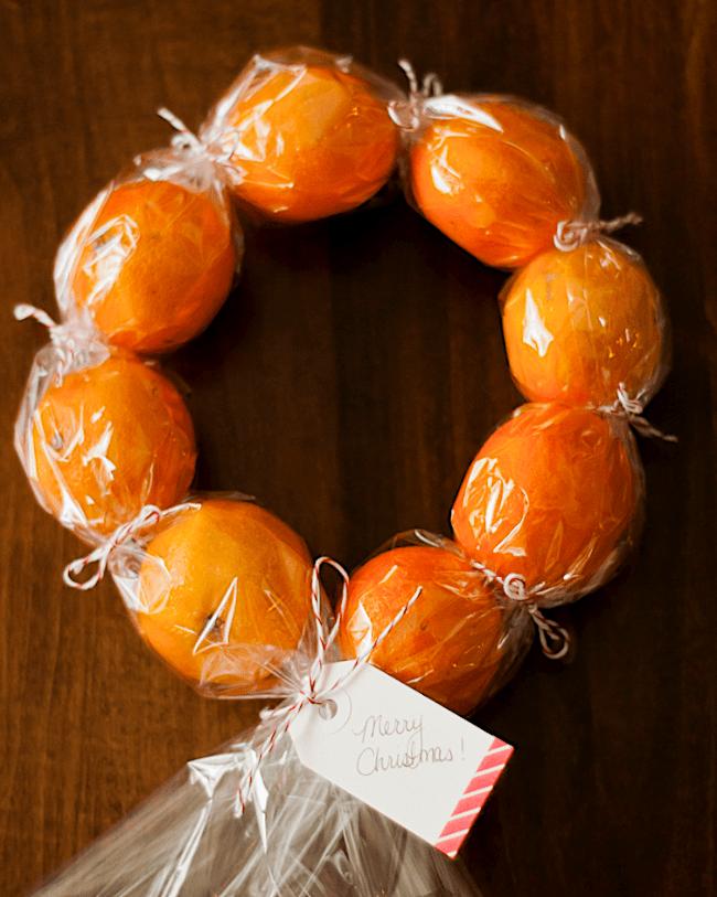 Clementine Christmas wreath