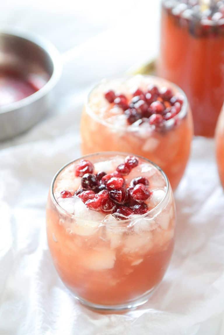 Cranberry cider punch
