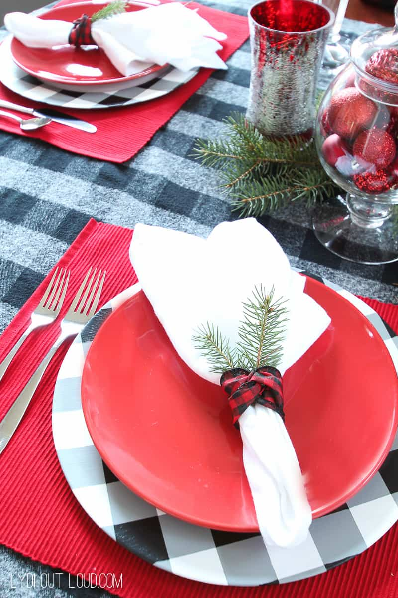 DIY holiday charger plates