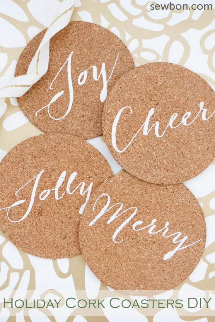 DIY holiday cork coasters