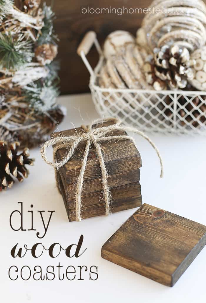 DIY stained wood coasters