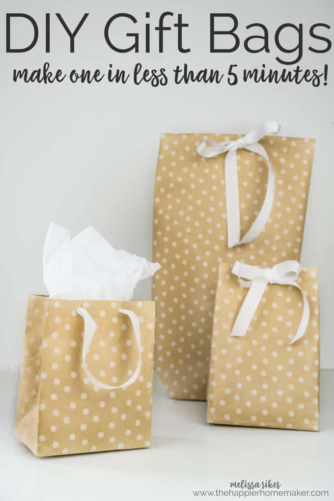 DIY wrapping paper gift bags