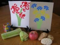 Do paint stamping art with vegetables 200x150 Smart Home Remedies: How to Use Foods for Things Other than Eating!
