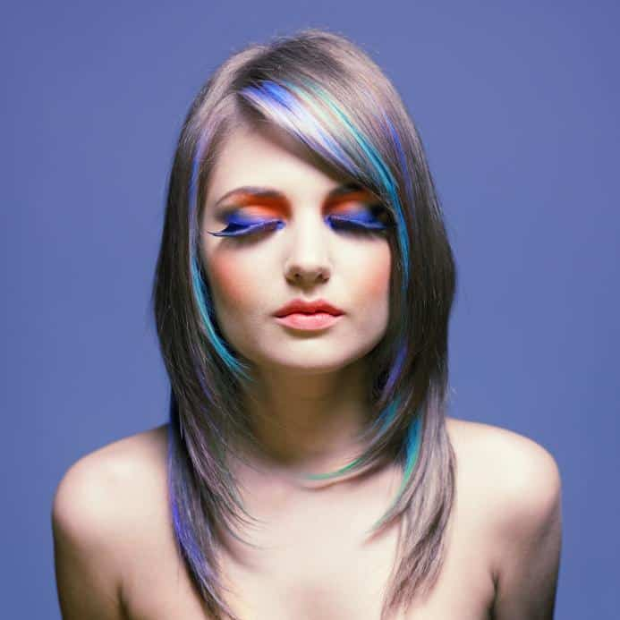 Dye your hair with food colouring