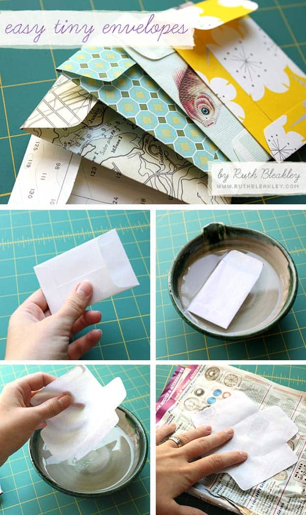 Easy, tiny wrapping paper envelopes
