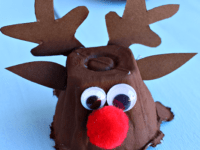 Egg carton reindeer 200x150 Pulling Your Heart Strings: Adorable Reindeer Themed Crafts for Kids