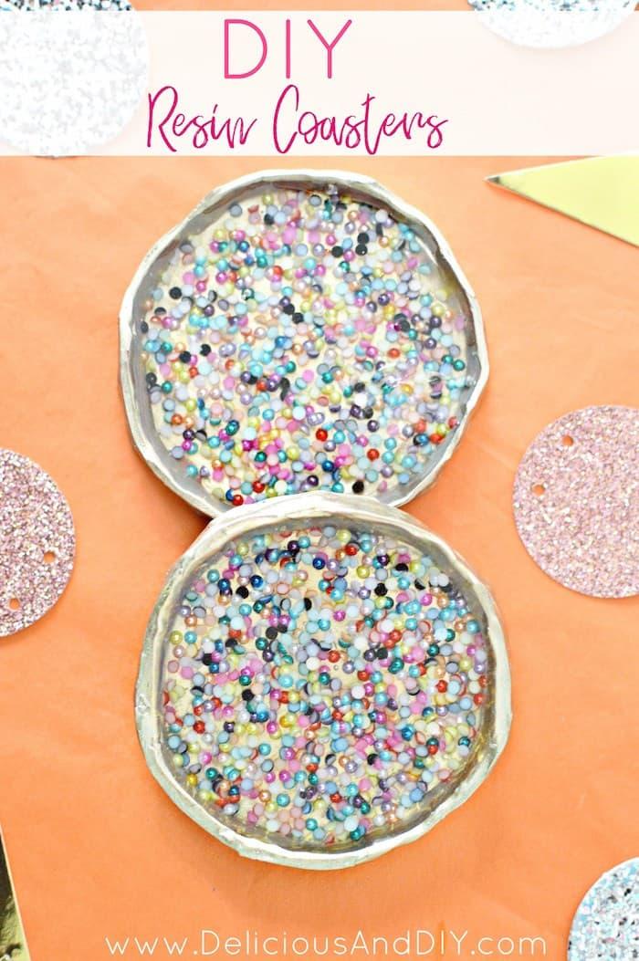 Festive resin coasters