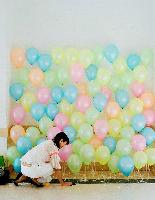 Floor to ceiling balloons