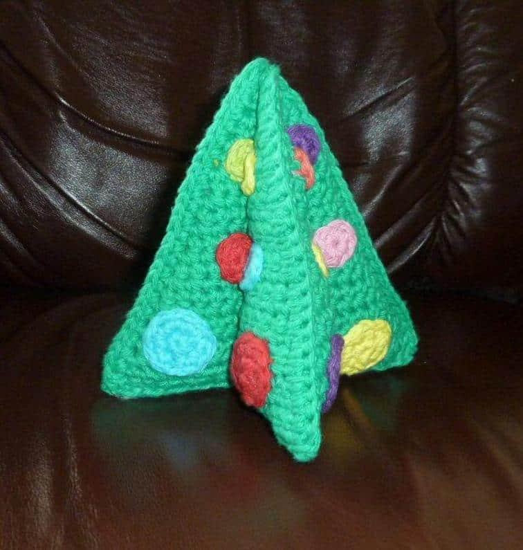 Foldable tabletop Christmas tree