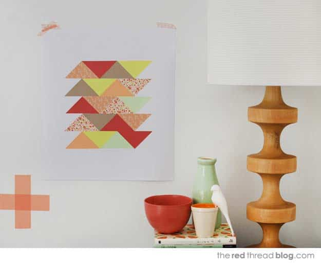 Geometric wrapping paper patchwork art