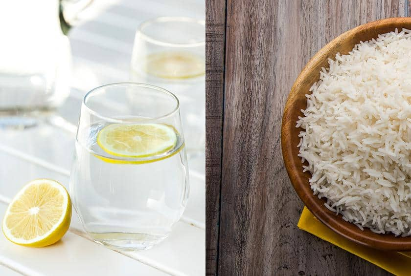 Get spotloess glassware using rice