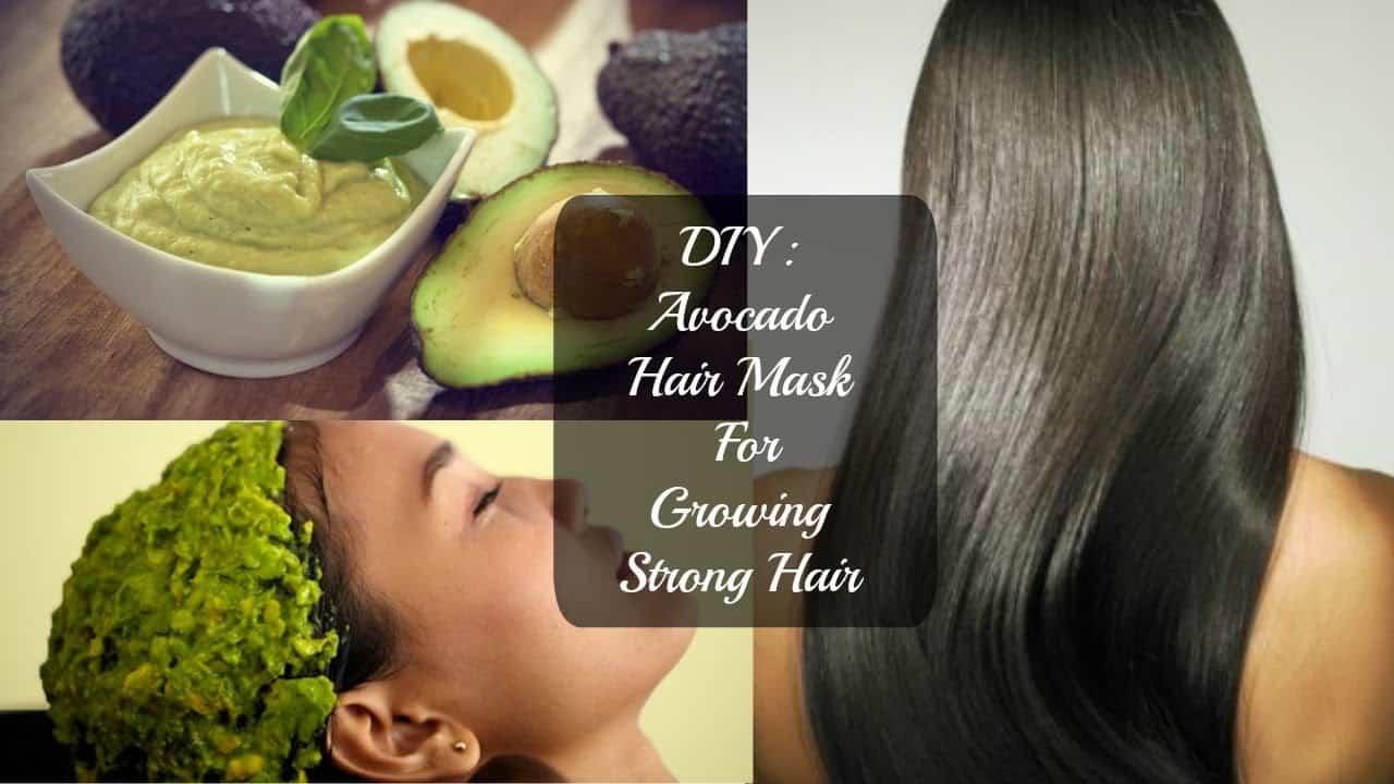 Get strong hair with a DIY avocado hair mask