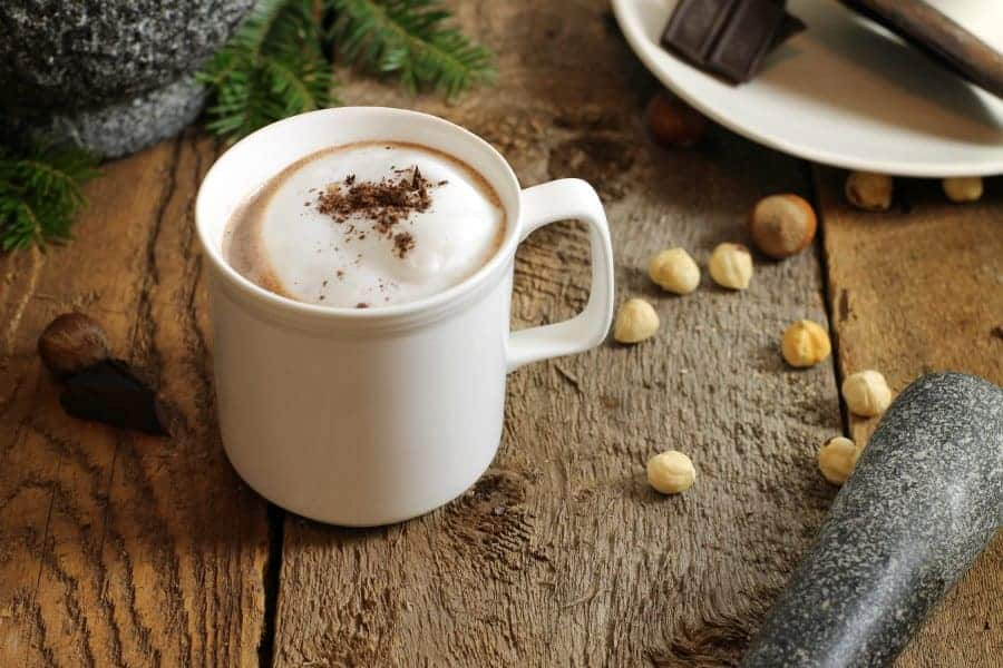 Hazelnut vanilla hot cocoa