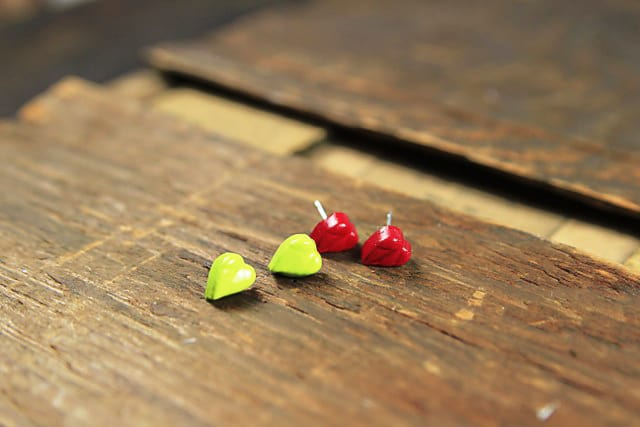 Hot glue gun stuf earrings