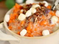 Maple sage smashed yams with marshmallow butter 200x150 Tasty Celebrations: Creative Side Dishes for Christmas Dinner