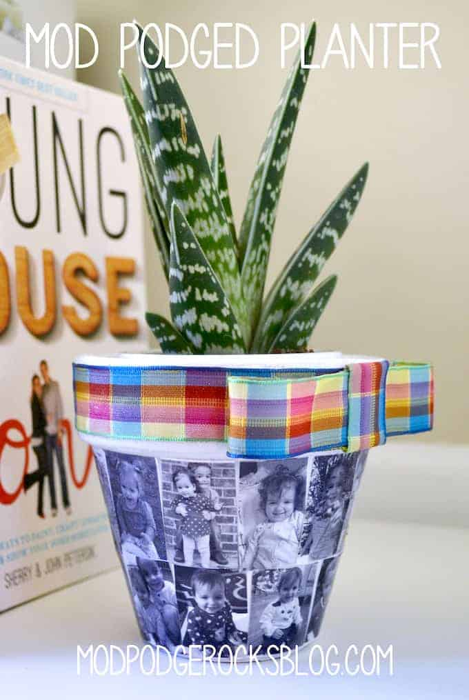 Mod Podged photo planter