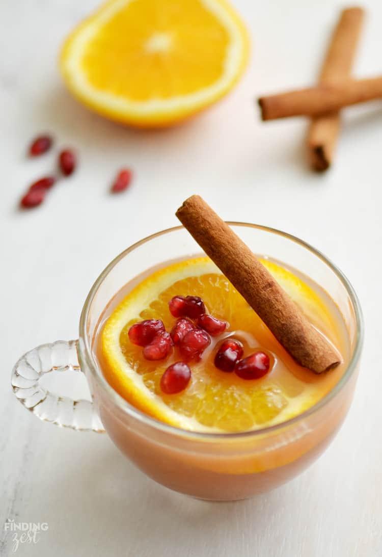 Orange pomegranate cider