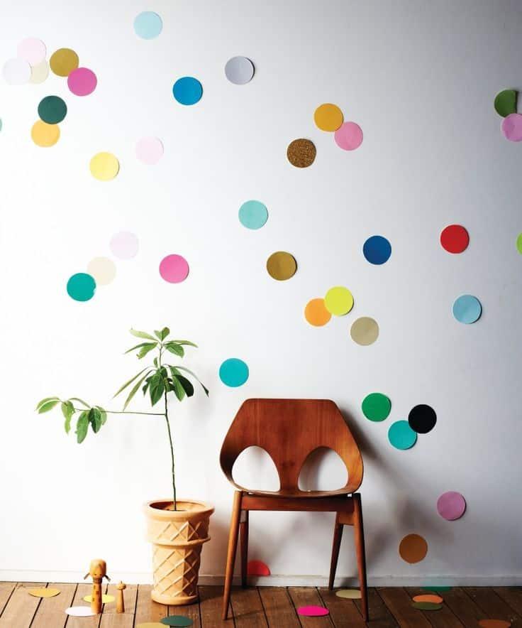 Paper polka dot wall