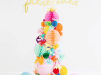 Paper pom pom and balloon tree 200x150 Finding Your Style: Awesome DIY Christmas Tree Alternatives