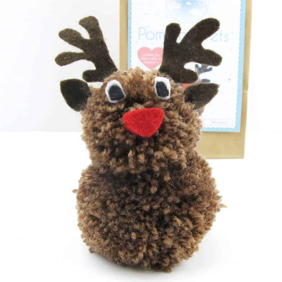 Pom pom reindeer