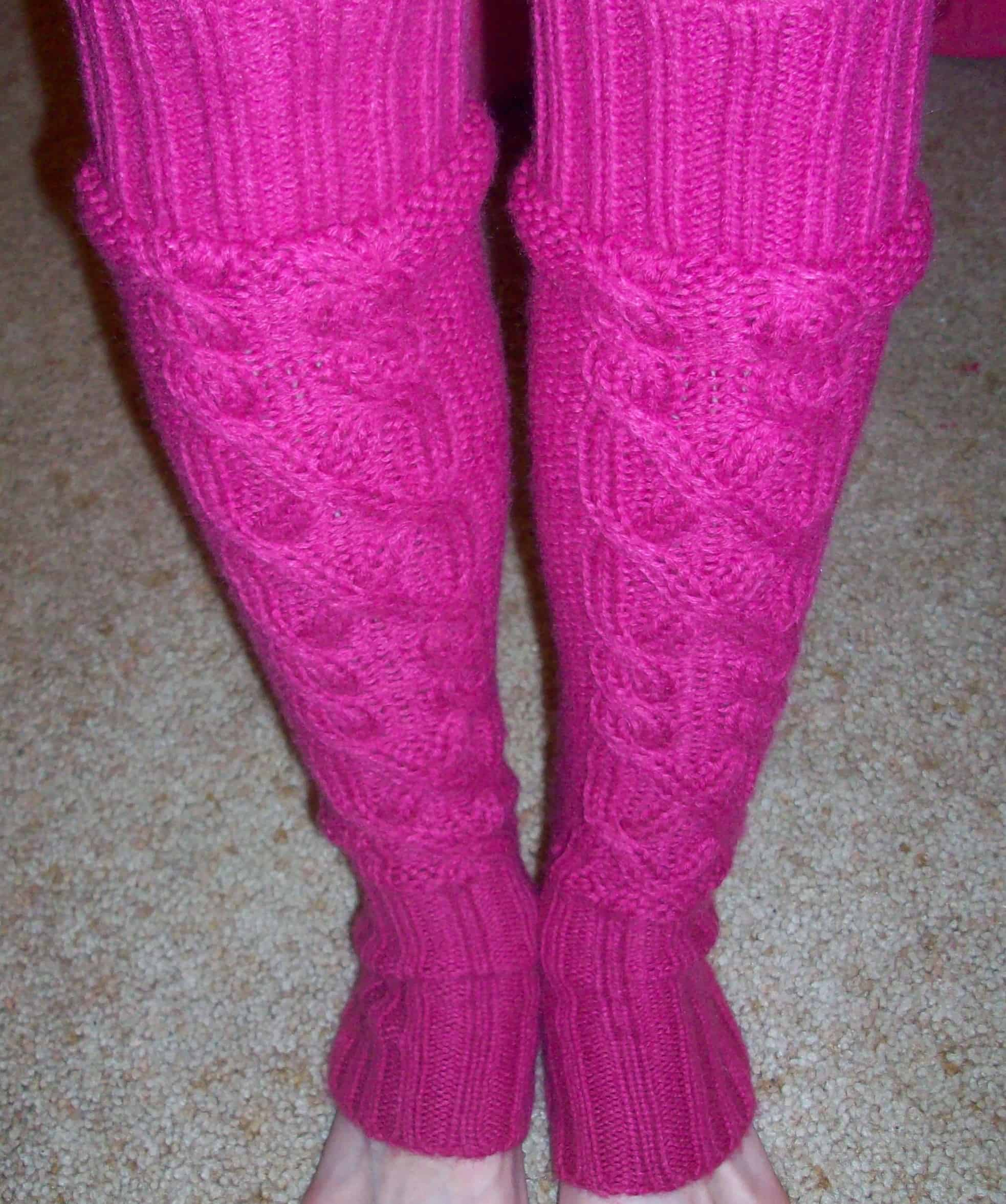 Recycled sweater leggings