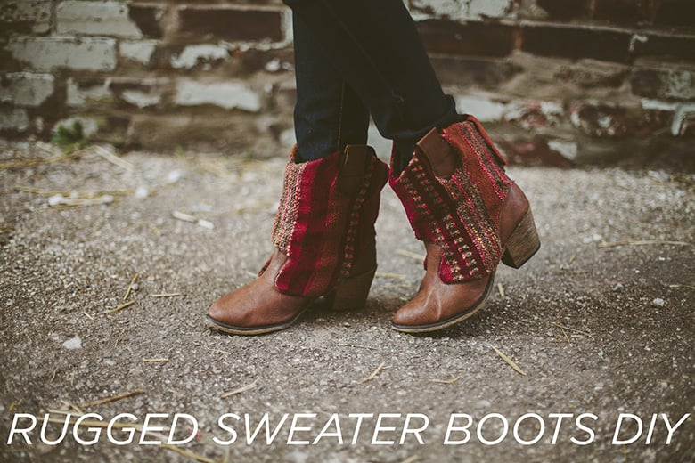 Rugged sweater boots