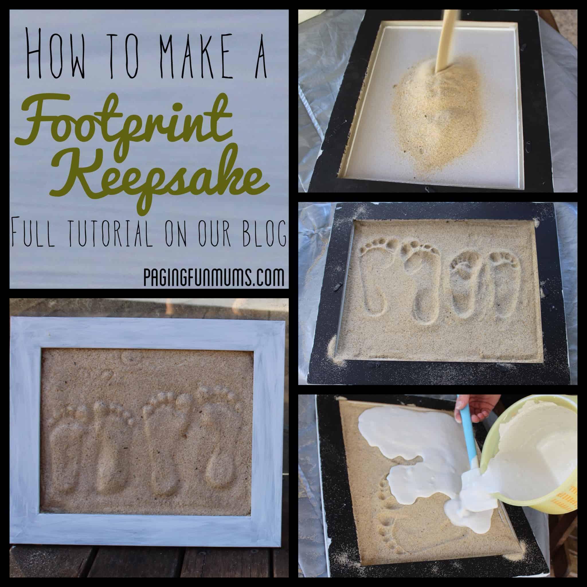 Sand footprints keepsake