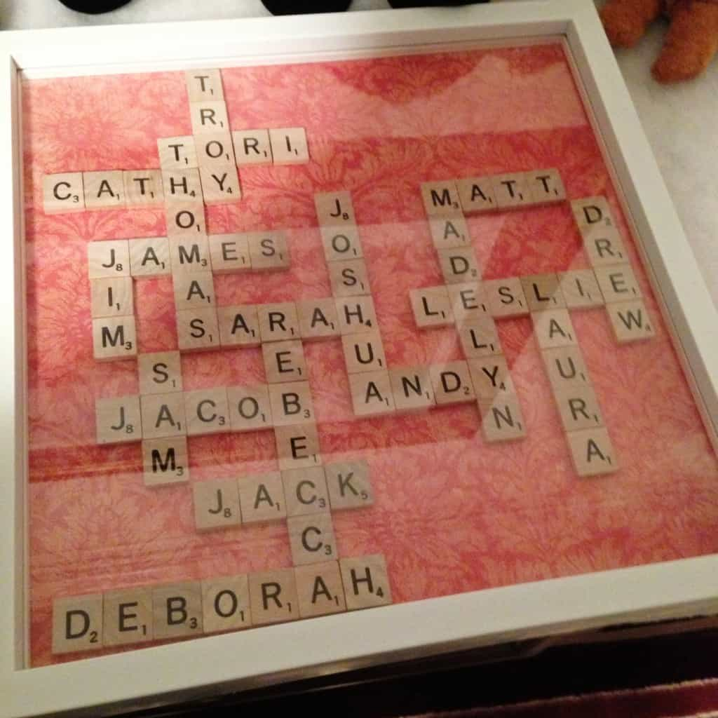 Scrabble family shadow box