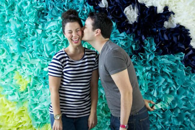 Scrunched tissue paper backdrop