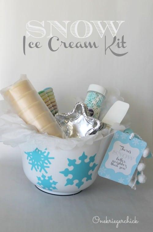 Snow ice cream kit