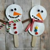White Christmas Joy: 15 Cute Snowman Themed Crafts for Kids