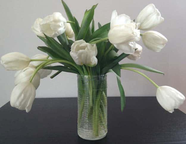 Spun hot glue vase