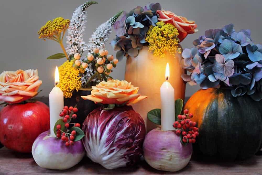 Turning vegetables into vases