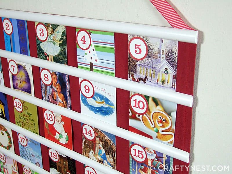 Upcycled wrapping paper advent calendar