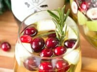 White Christmas sangria 200x150 15 Unique Cocktail Recipes for Christmas Parties