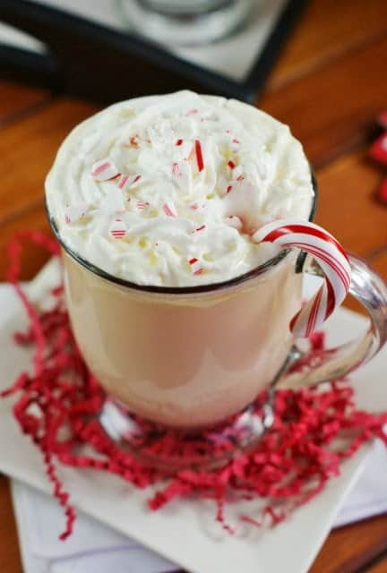 White chocolate peppermint eggnog