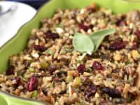 Wild rice stuffing 200x150 Tasty Celebrations: Creative Side Dishes for Christmas Dinner