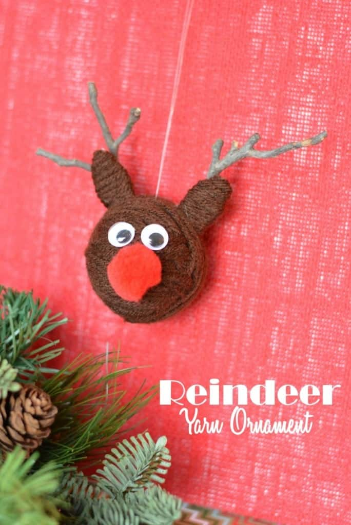 Yarn ball reindeer
