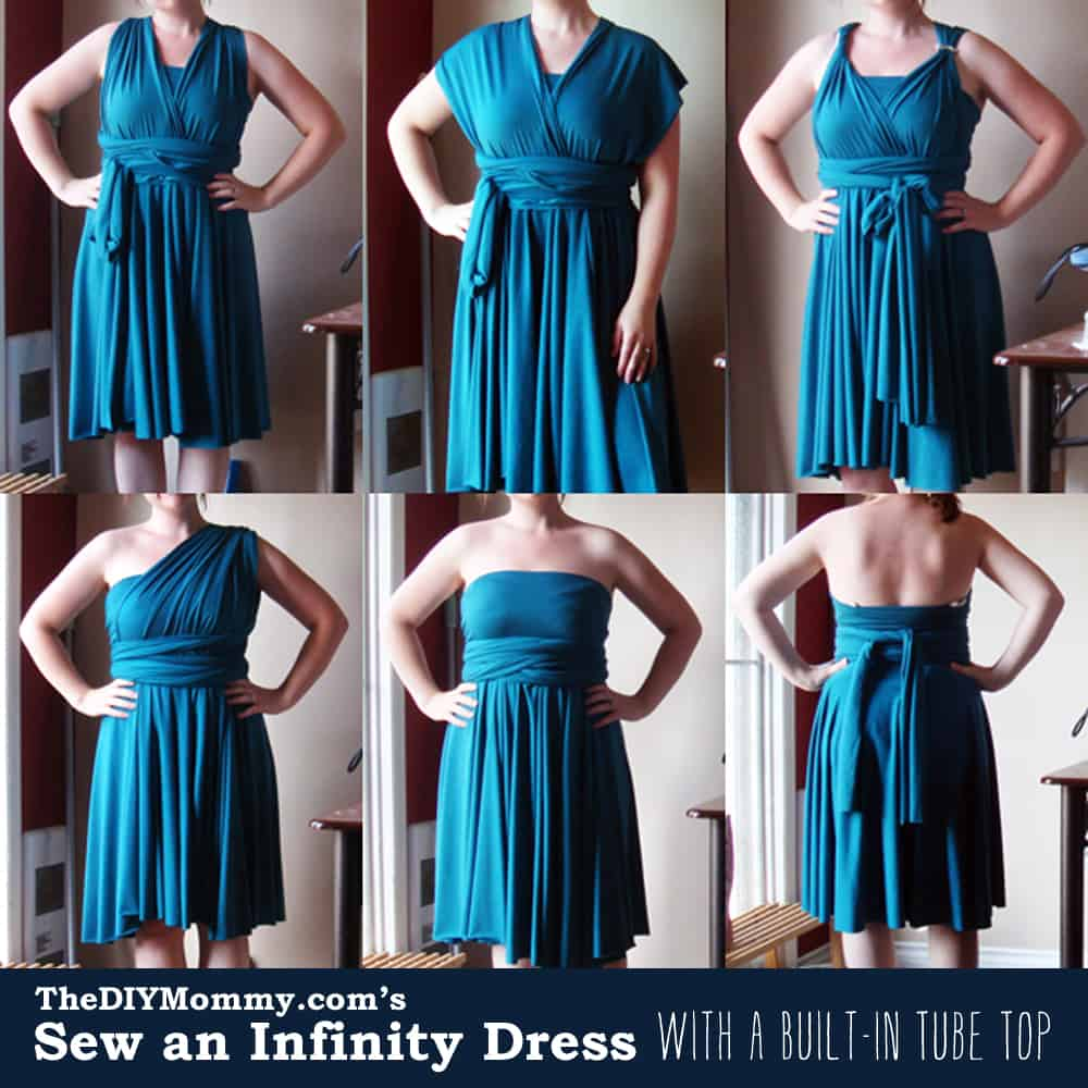 Infinity dress with built-in tube top
