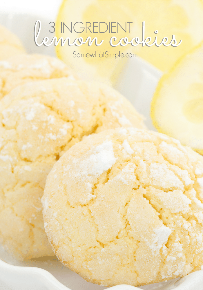 3-ingredient lemon cookies