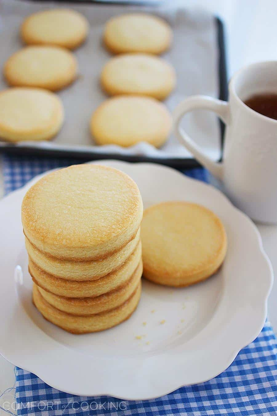 3-ingredient shortbread cookies