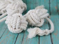 4 knot rope ball 200x150 For Your Little Buddy: Smart DIY  Pet Toys that are Fun