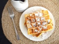 Bacon waffles with powdered sugar 200x150 Sugary Delights for Endless Festivities: Easy 3 Ingredient Sweets to Try Out!