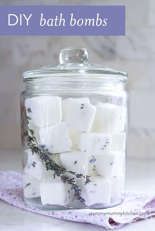 Calming lavender bath bombs