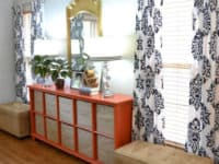 Custom stencilled drapes 200x150 Fun, Colorful and Full of Life: 15 Best DIY Curtains to Try Out in New Year