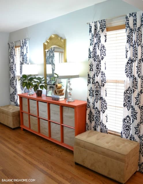 Custom stencilled drapes