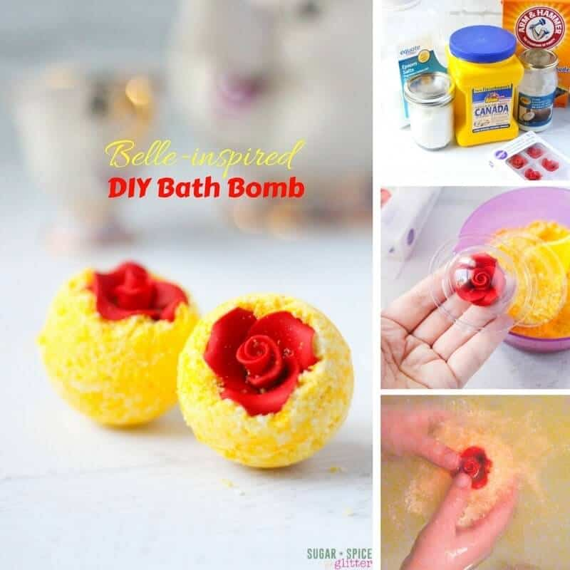 DIY Belle inspired bath bombs