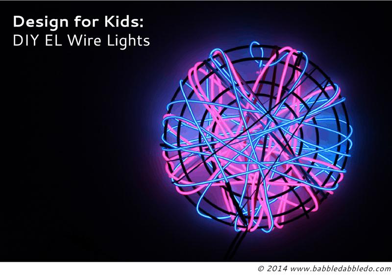 DIY EL wire lights